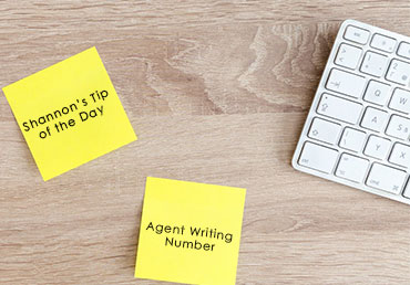 Shannon's Tip of the Day: Agent Writing Number