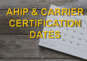 AHIP & MA Carrier Certification Dates