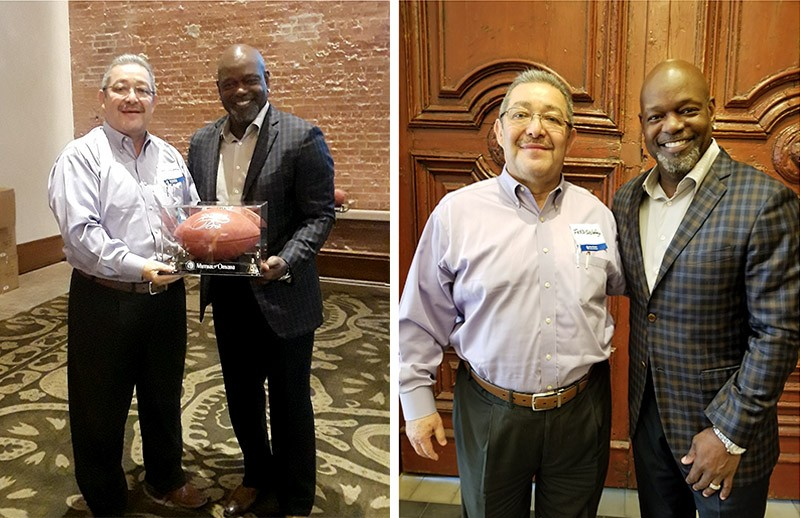 Empower Brokerage team with Emmitt Smith at Hotel Emma in San Antonio.