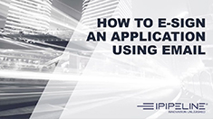 10 – How to e-sign an application using email