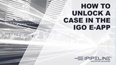 5 – How to unlock a case in the iGo eApp