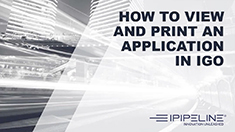 8 – How to view and print an application in iGo