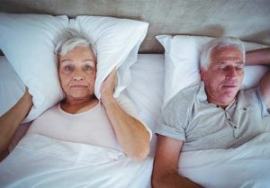 Snoring may be a sign of obstructive sleep apnea.